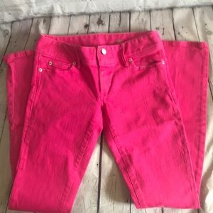 Lilly Pulitzer hot pink jeans straight leg size 2